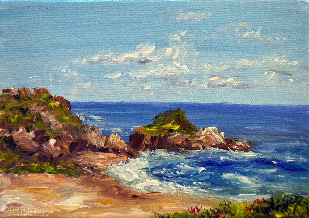 """Zambujeira Beach (Charity)"" original fine art by Gloria Ester"