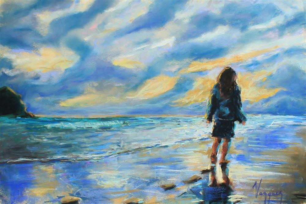 """Toward the horizon"" original fine art by Marco Vazquez"