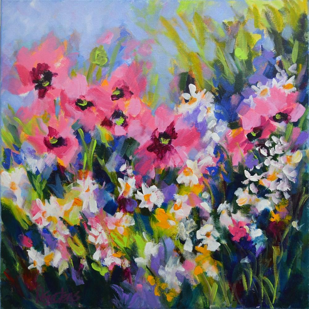 """""""Poppy Meadow"""" original fine art by Pamela Gatens"""
