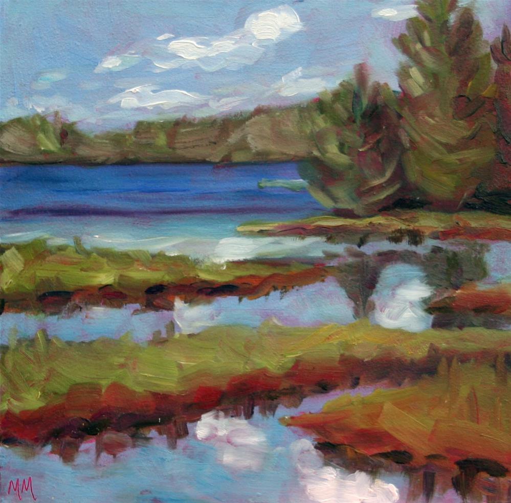 """""""Wolf Creek"""" original fine art by Maria McNitt"""