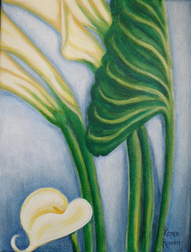 """Calla Moment"" original fine art by Karen Roncari"