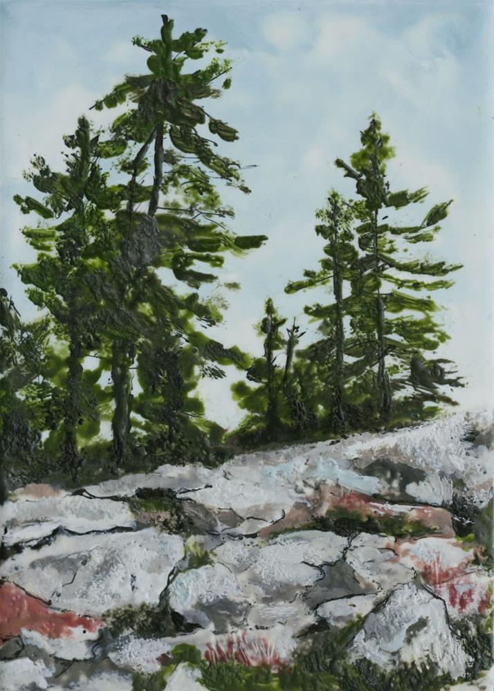 """Reid Park Pines"" original fine art by Heather Douglas"