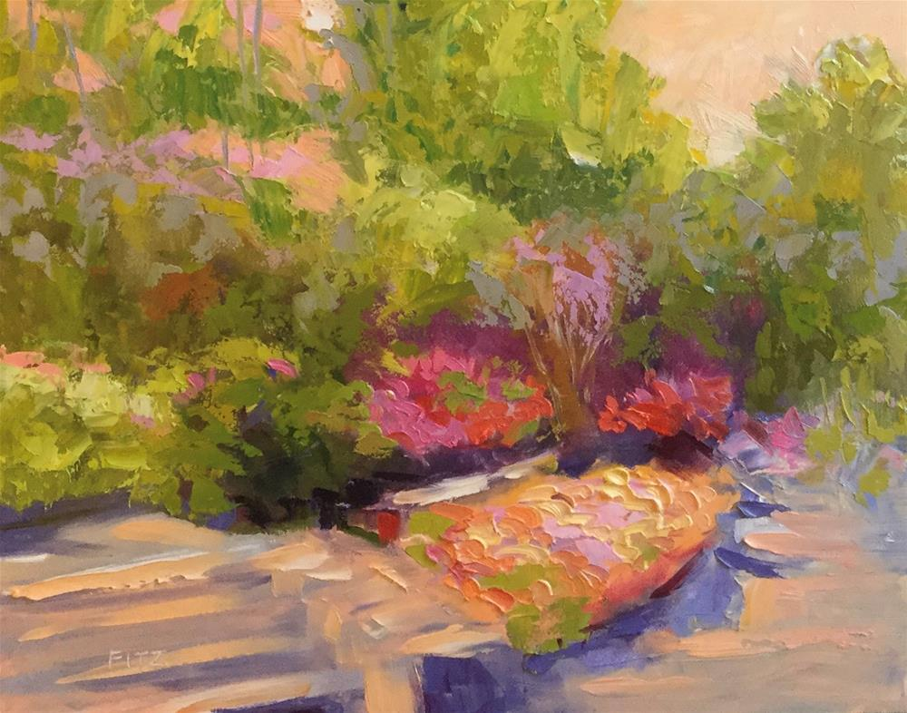 """Terraced Beds at Duke Gardens"" original fine art by Charlotte Fitzgerald"