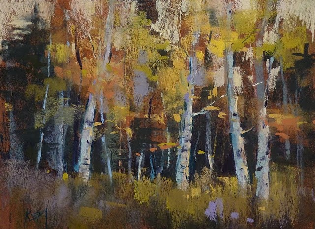 """Tips for Painting Yellow Foliage"" original fine art by Karen Margulis"