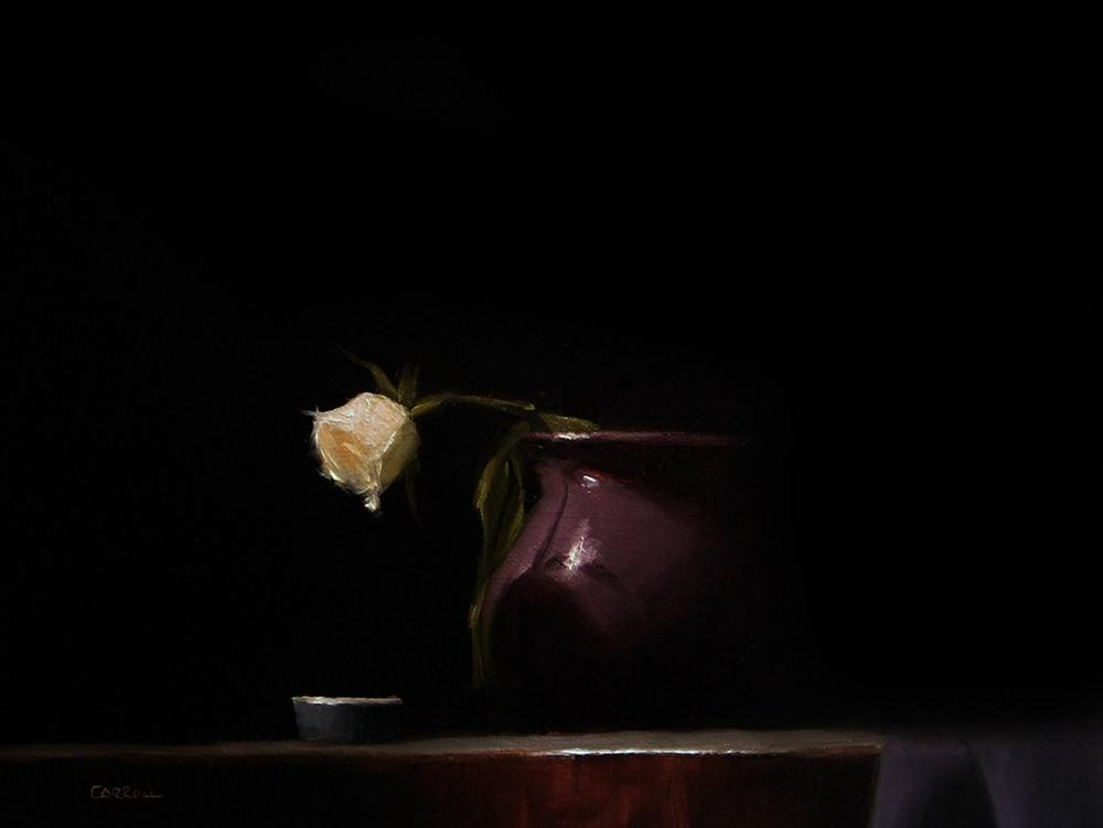 """""""Rose with Violet"""" original fine art by Neil Carroll"""