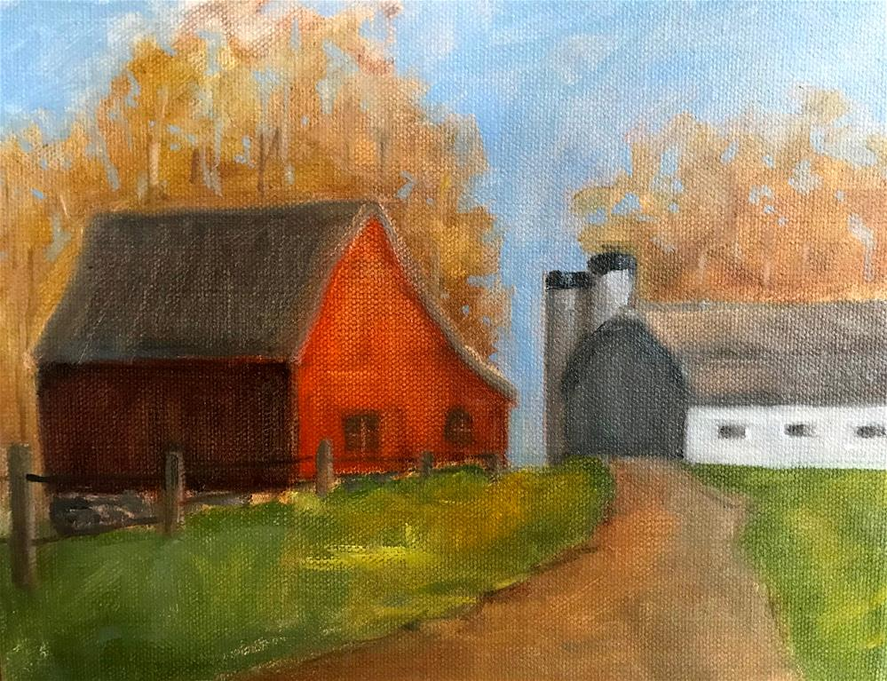 """autumn on the farm"" original fine art by Betty Argiros"