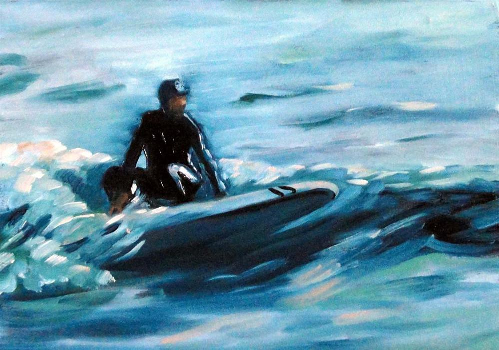 """Surf's Up"" original fine art by Cietha Wilson"
