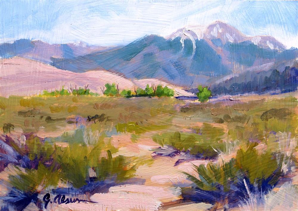 """""""Colorado Dunes"""" original fine art by Gary Alsum"""