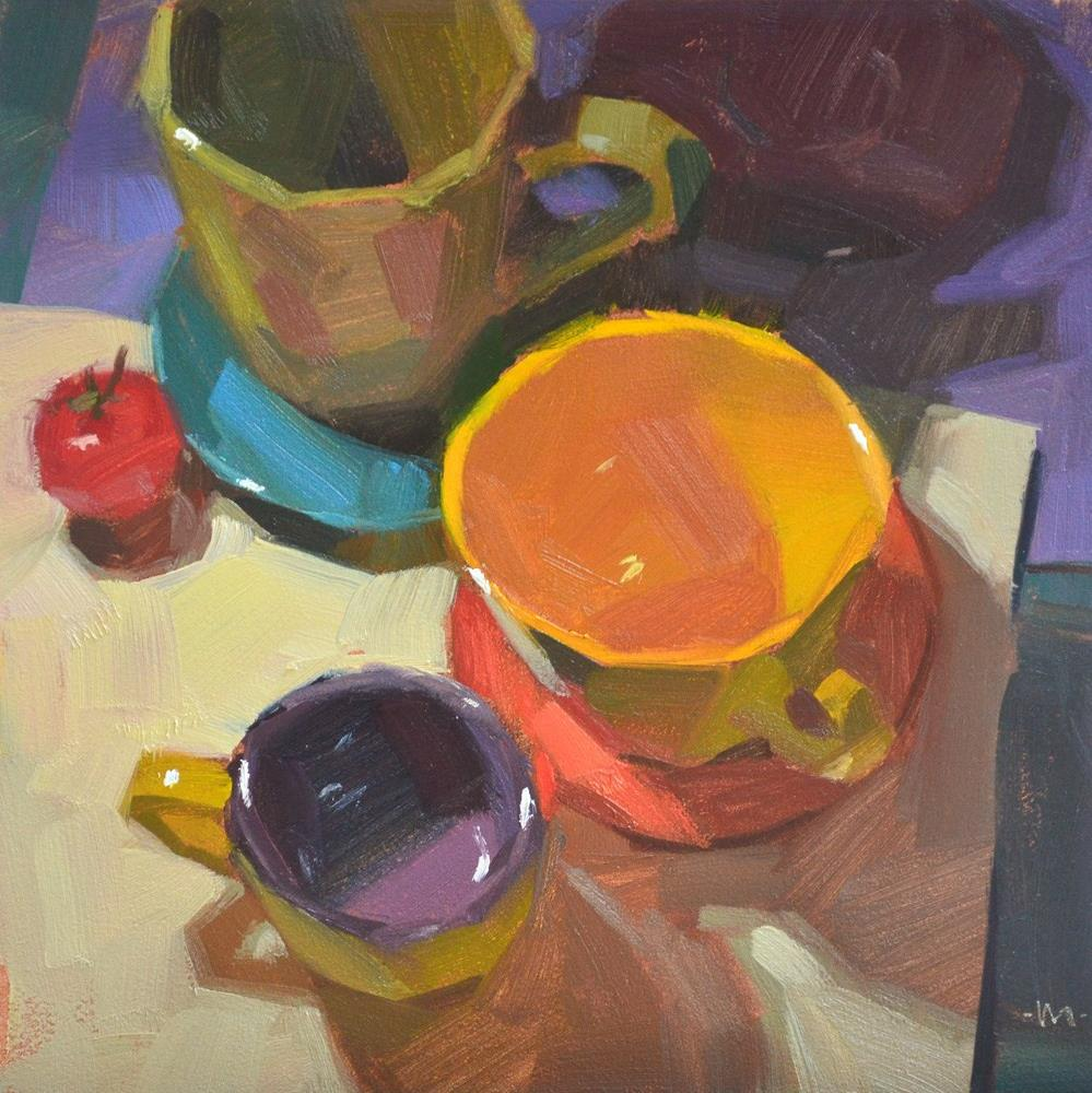 """A Colorful Reunion"" original fine art by Carol Marine"