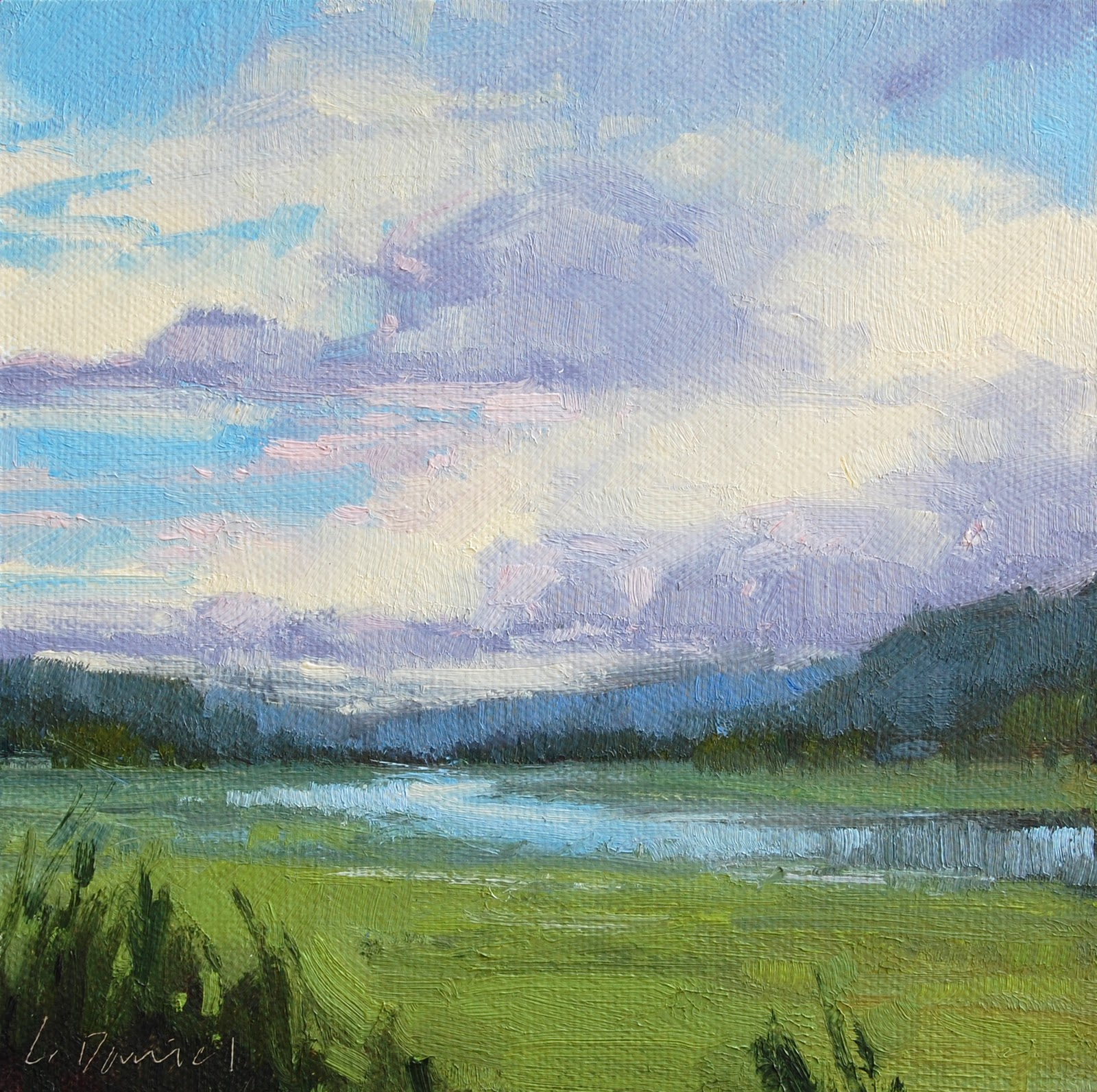 """River Valley Study"" original fine art by Laurel Daniel"