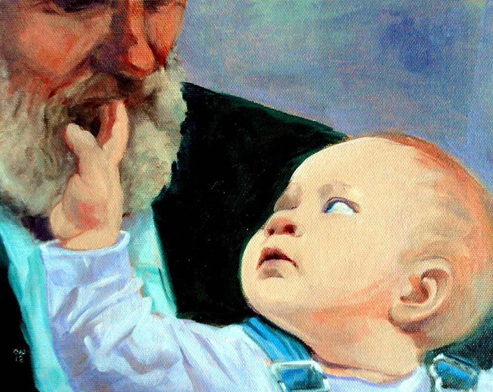 """Grandpa's Beard"" original fine art by Cietha Wilson"