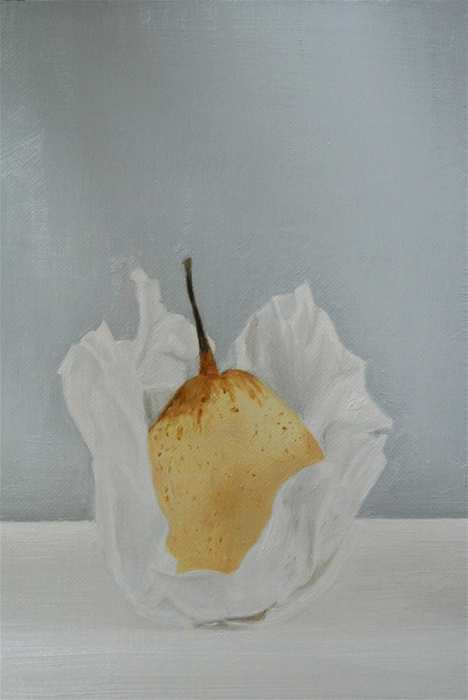"""""""Chinese Pear"""" original fine art by James Coates"""