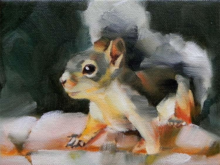 """Doug"" original fine art by Cheryl Wilson"