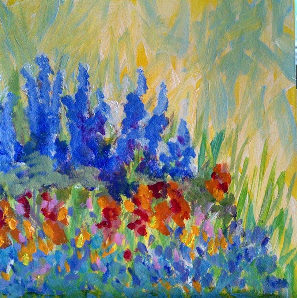 """Summer Garden"" original fine art by Kathy Fleming"
