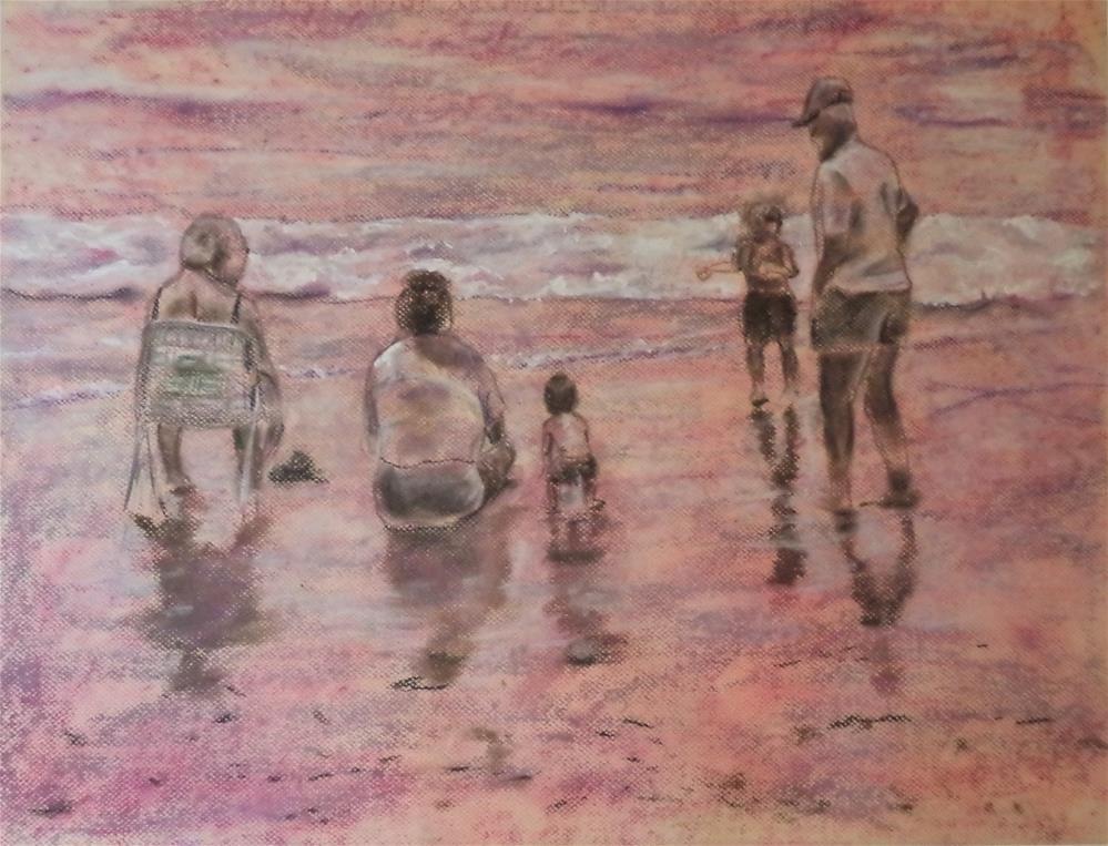 """Once upon a Time on the Beach"" original fine art by tara stephanos"