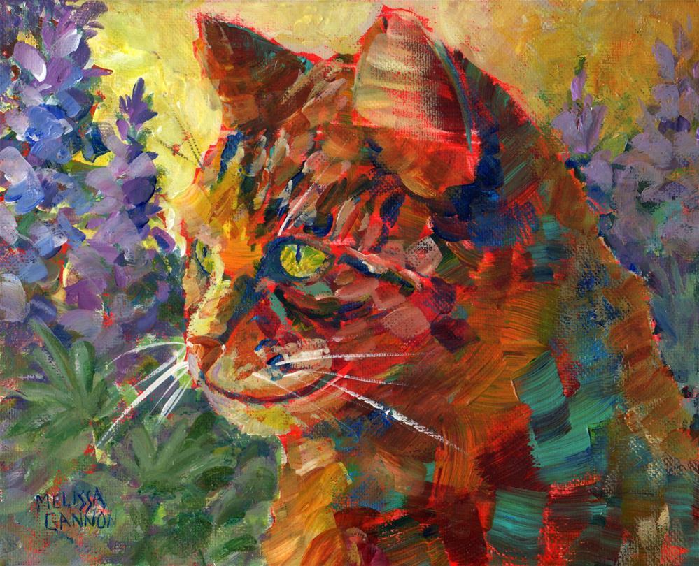 """""""Lupine Adventure"""" original fine art by Melissa Gannon"""