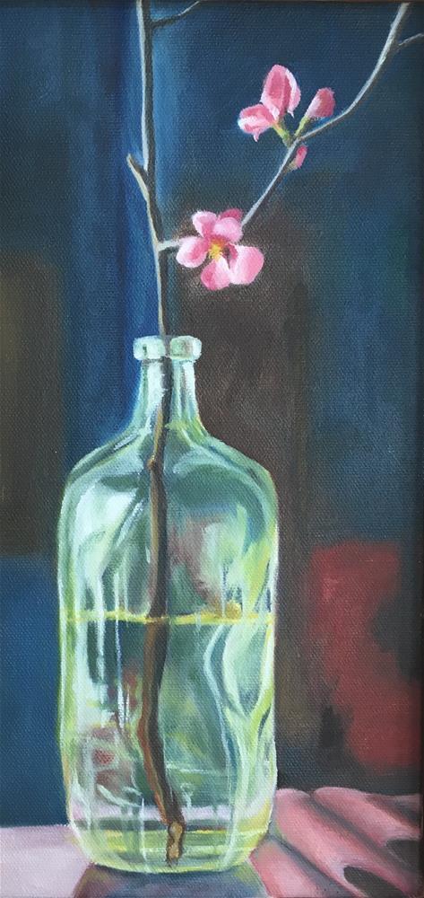 """Quince Blossoms"" original fine art by Karen Collins"