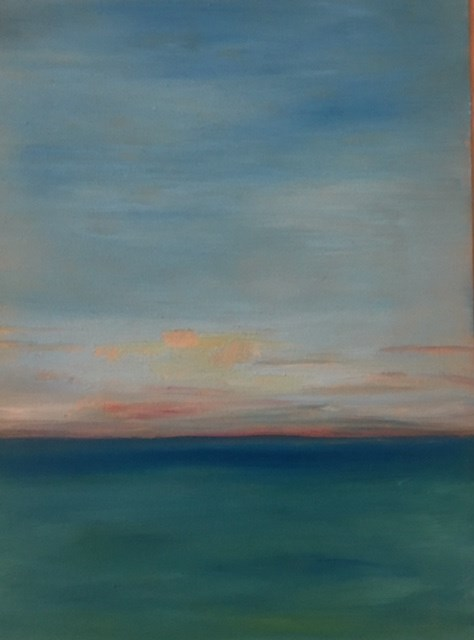 """Caribbean Sunrise"" original fine art by Karen Collins"