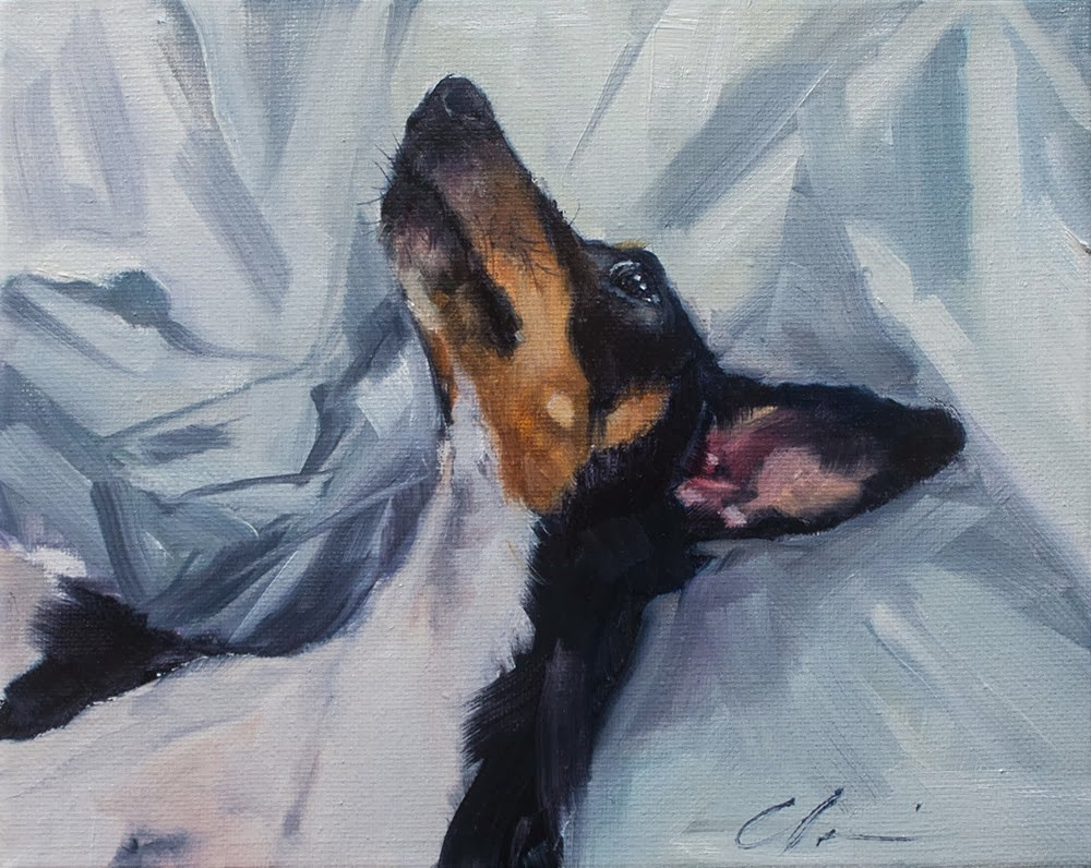 """""""Alright Mr. DeMille, I'm ready for my close-up"""" original fine art by Clair Hartmann"""