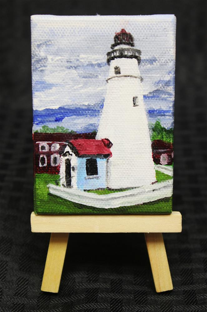 """Fort Gratiot Lighthouse"" original fine art by Angela Z. Hamilton"