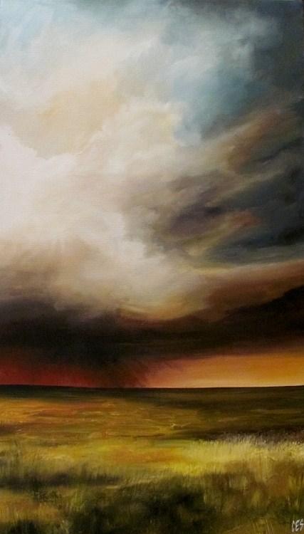 """""""The Passing Storm"""" original fine art by ~ces~ Christine E. S. Code"""