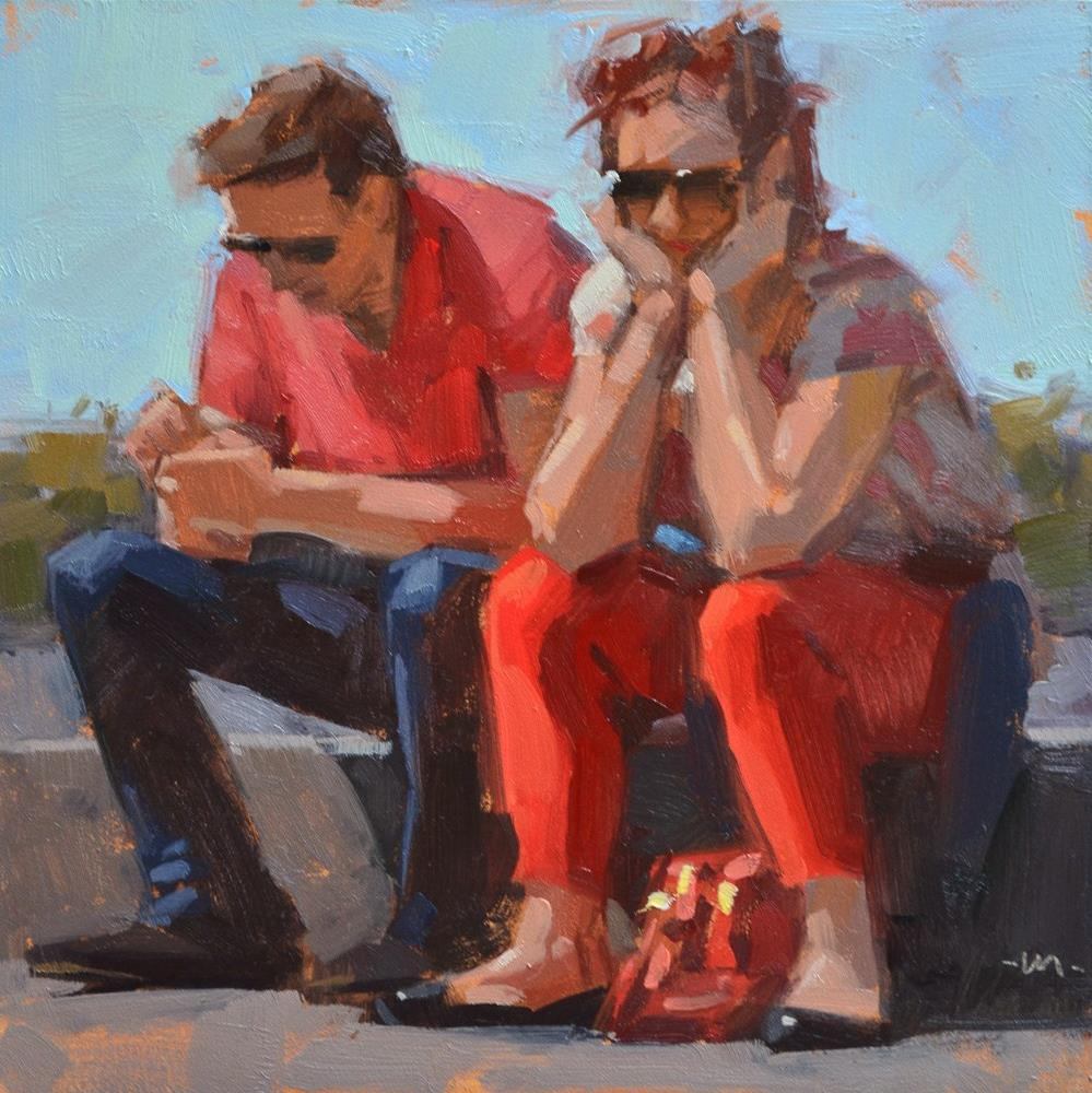 """Red Hot Couple"" original fine art by Carol Marine"