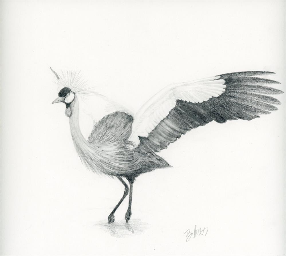 """""""Big Bird Study II"""" original fine art by Susanne Billings"""