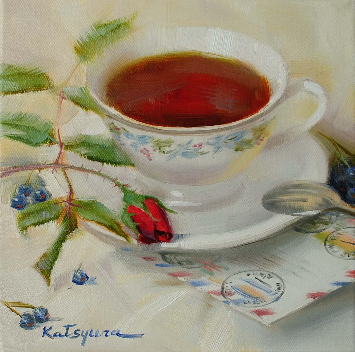 """Good News"" original fine art by Elena Katsyura"