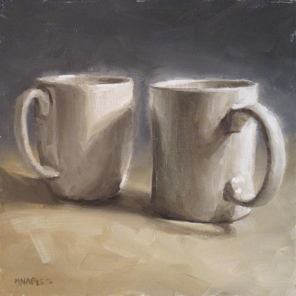 """Morning Glow on Mugs"" original fine art by Michael Naples"