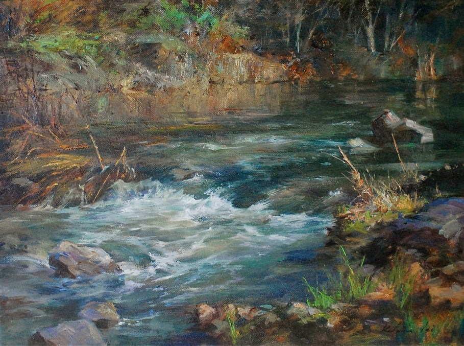 """River Series #6"" original fine art by Kelvin Lei"