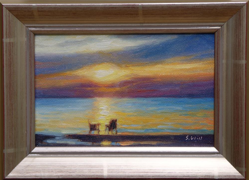 """Sunset Watch 4x6"" original fine art by Sharon Will"