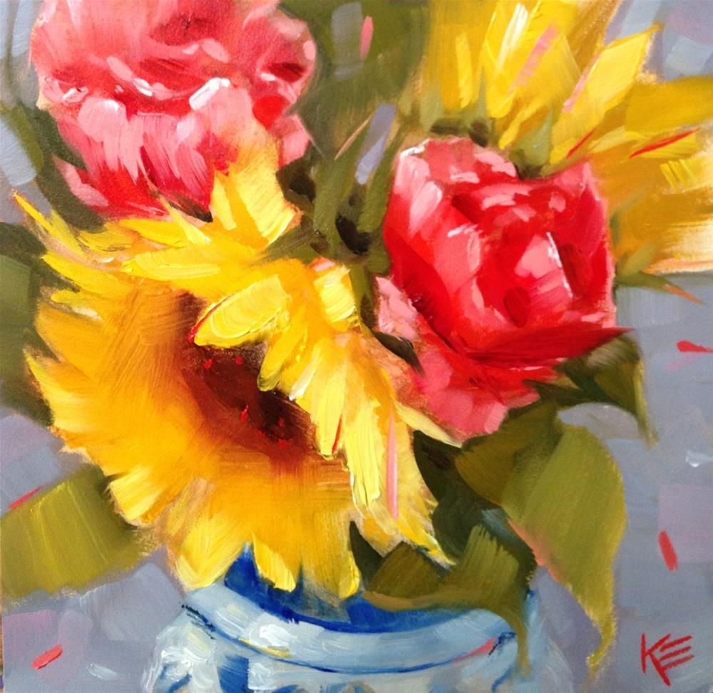 """Sweet Sunshine"" original fine art by Krista Eaton"