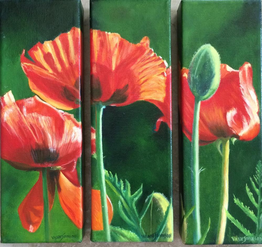 """Sunlight & Red"" original fine art by Wendi Vann Johnson"