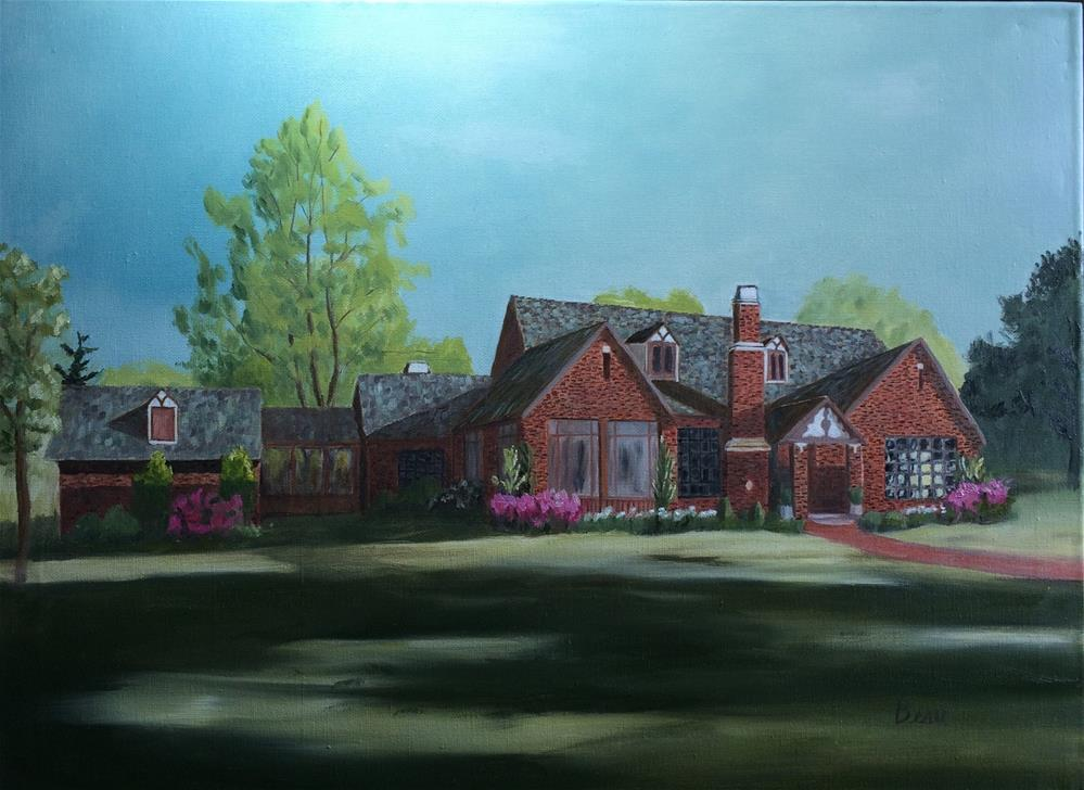 """English Tudor the American Way"" original fine art by Beau Crump"