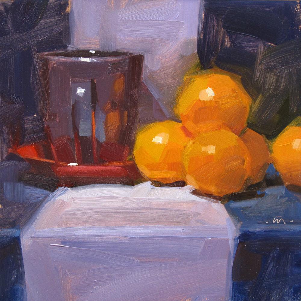 """Orange Overflow"" original fine art by Carol Marine"