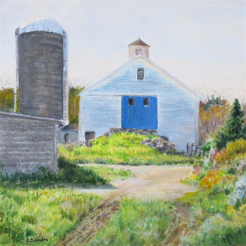 """First Root Farm"" original fine art by Linda Demers"