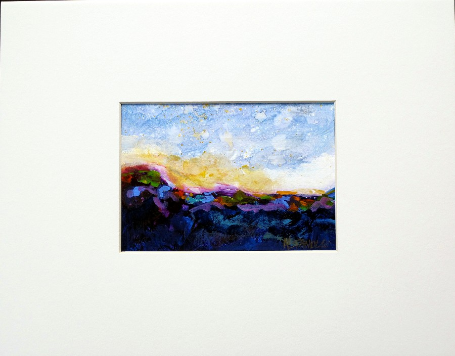 """Landscape series with mat"" original fine art by Nancy Standlee"