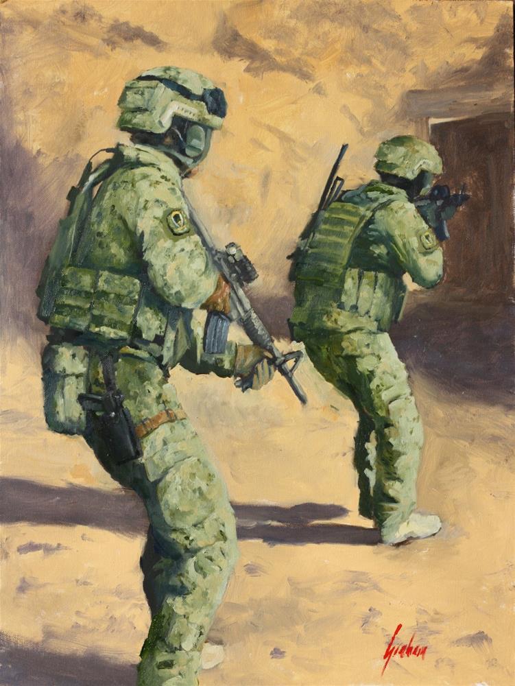 """""""HVT"""" original fine art by Graham Townsend"""