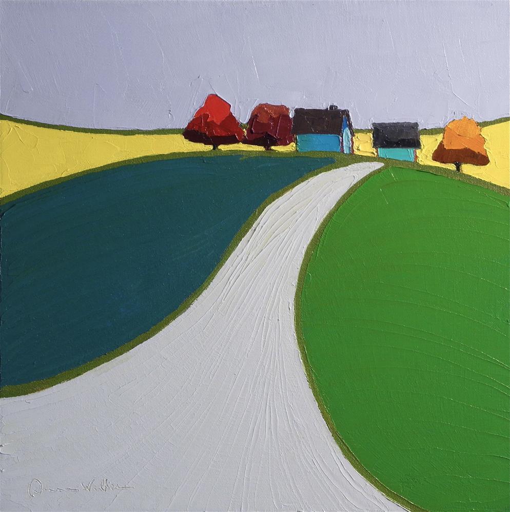 """Hilltop Rhapsody"" original fine art by Donna Walker"