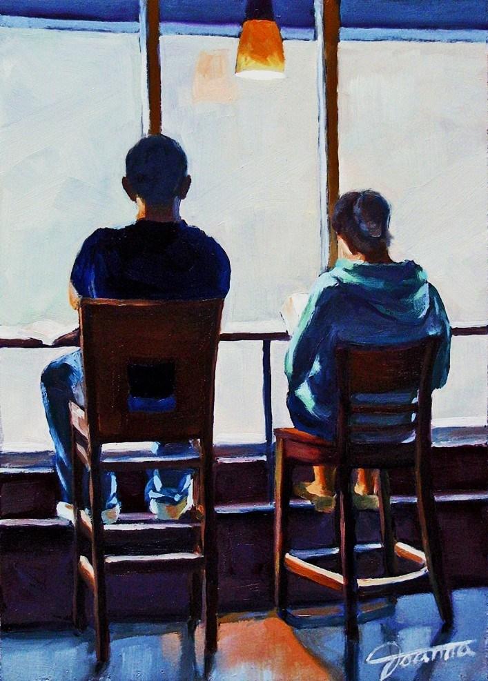 """""""Window Seats"""" original fine art by Joanna Bingham"""