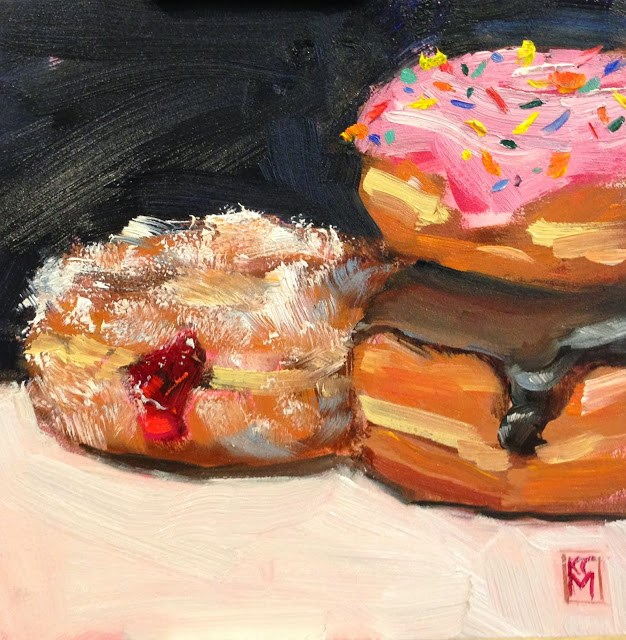"""""""Which One Is Yours? 6x6 Inch Oil Painting by Kelley MacDonald"""" original fine art by Kelley MacDonald"""