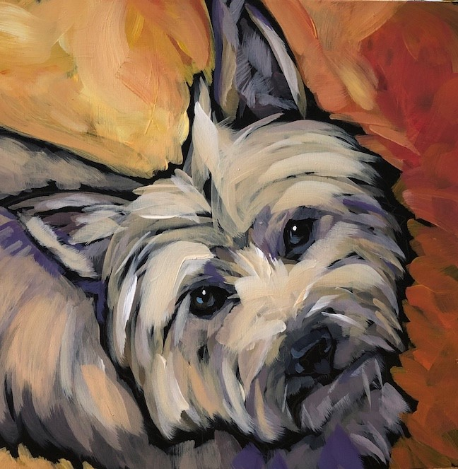 """Sparky"" original fine art by Kat Corrigan"