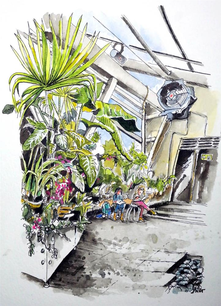 """3059 Berggarten Greenhouse"" original fine art by Dietmar Stiller"