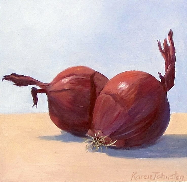 """Spanish Red Onions"" original fine art by Karen Johnston"
