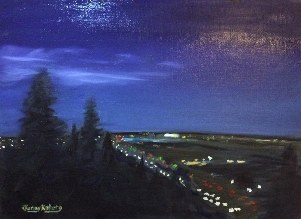 """Night Road"" original fine art by Jenny Kinberg"