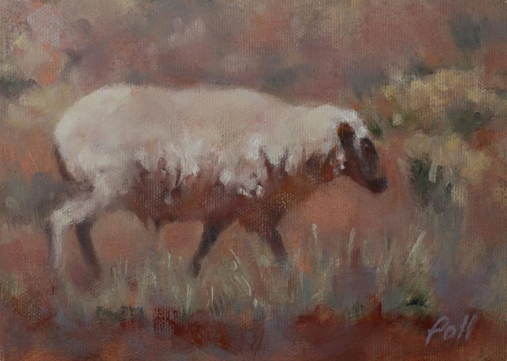"""Southwest Sheep"" original fine art by Pamela Poll"