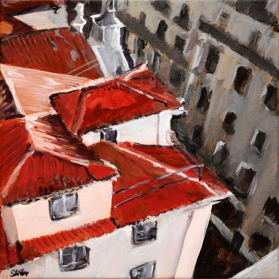 """1265 Terrace View"" original fine art by Dietmar Stiller"