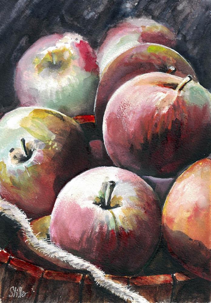 """""""3141 Applesauce"""" original fine art by Dietmar Stiller"""