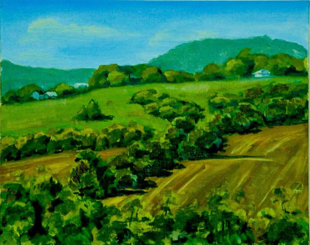 """""""Scenery Hill from Bethlahem"""" original fine art by Ted Michaelis"""