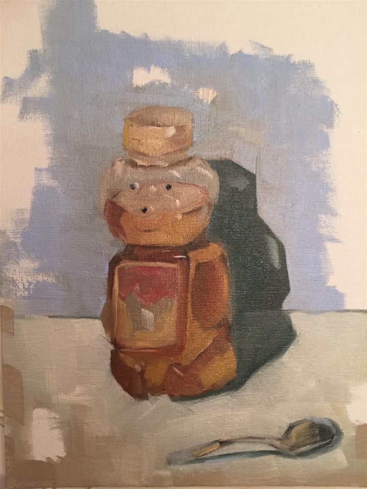 """326 Honey Bear"" original fine art by Jenny Doh"
